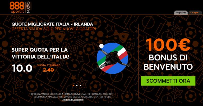 888sport quote migliorate Italia - Iralnda Euro 2016 su Bonusvip