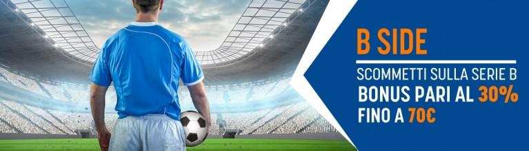 Offerta scommesse sportive SNAI per la Serie B Italia su BonusVip